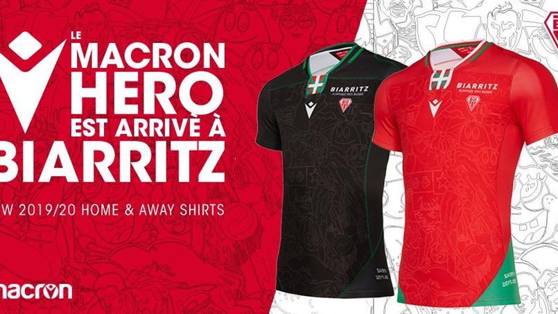 Les nouveaux maillots du Biarritz Olympique