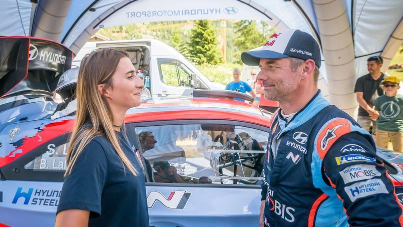 Perrine Laffont et Sébastien Loeb ont fait connaissance à Tignes à bord de la Huyndai I20 WRC de l'Alsacien.