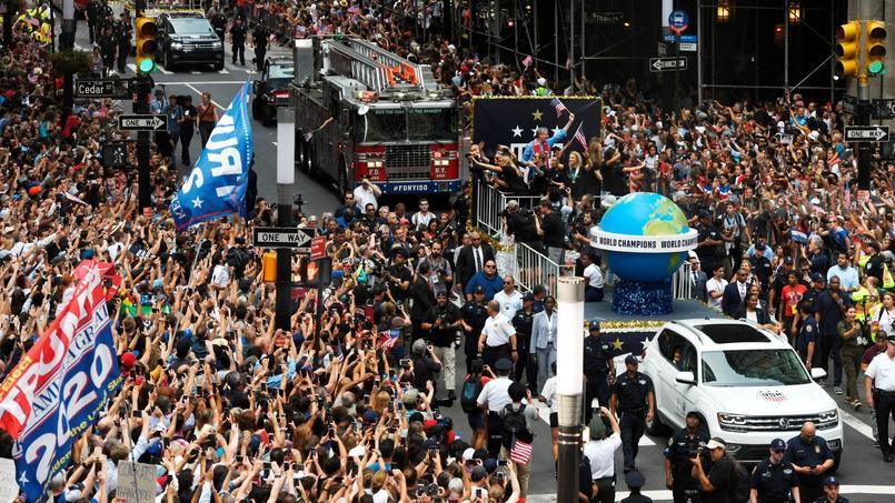 La sélection américaine a défilé dans les rues de New York