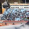Des tribunes à moitié remplies pour l'épreuve du combiné en ski alpin : les JO de Pyeongchang n'ont pas été un grand succès populaire auprès du public coréen. A l'exception du patinage, l'ambiance était souvent tristounette autour des sites olympiques.