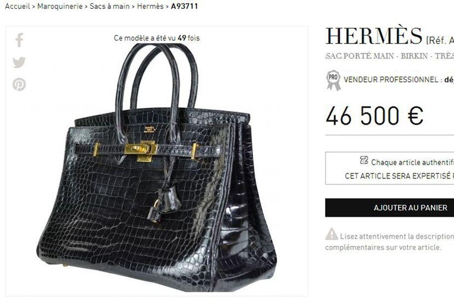1fd092dde5 Jane Birkin ne veut plus que le sac Hermès en crocodile porte son nom