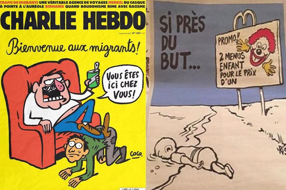 Les Dessins De Charlie Hebdo Sur La Mort D Aylan Ne Font Pas Rire Tout Le Monde