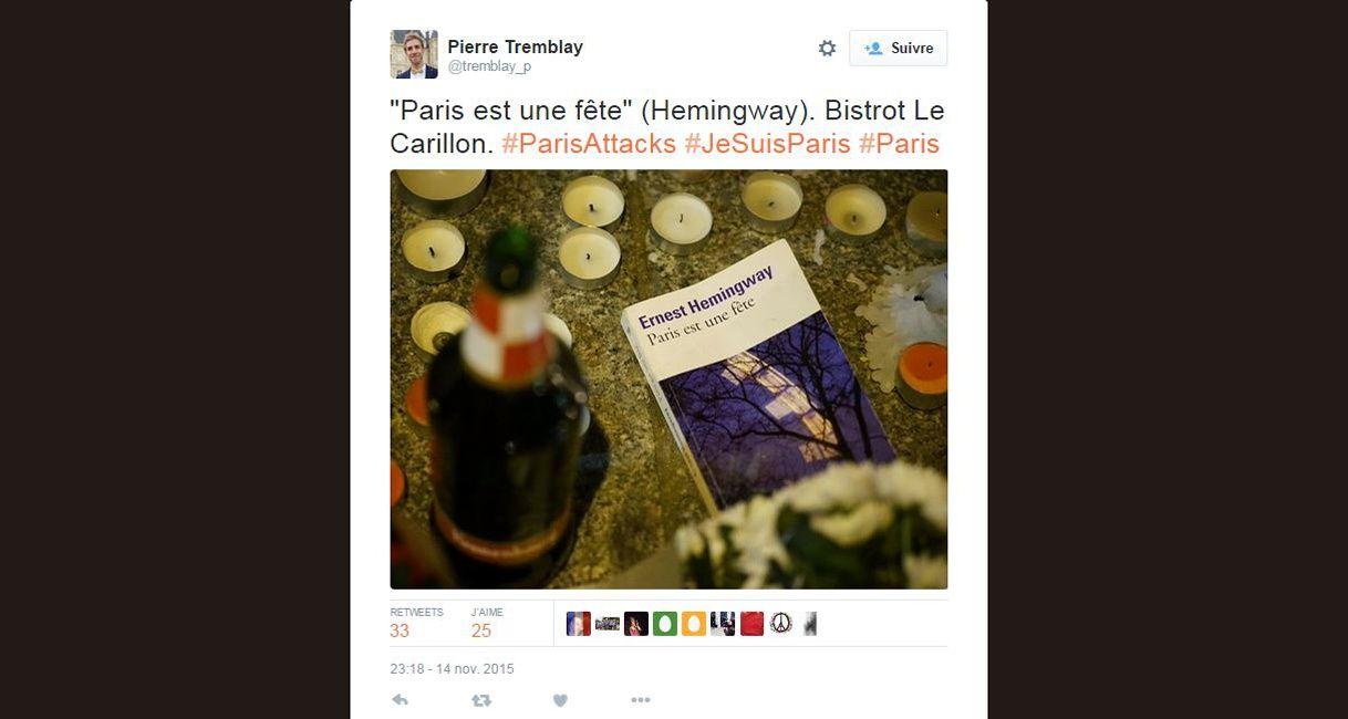 Attentats Résister Avec Paris Est Une Fête D Hemingway