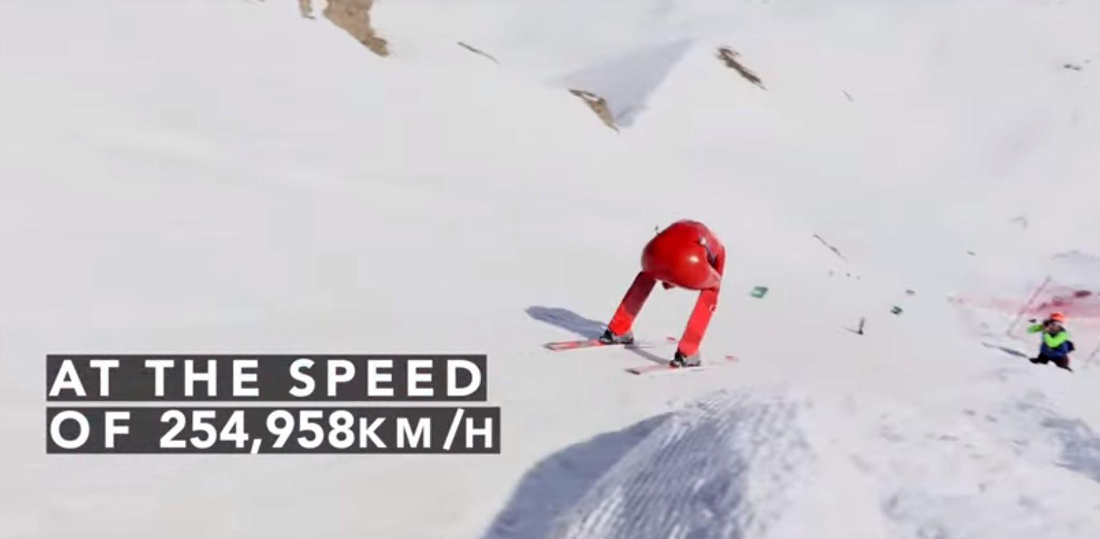 nouveau record du monde de ski de vitesse 254 958 km h. Black Bedroom Furniture Sets. Home Design Ideas