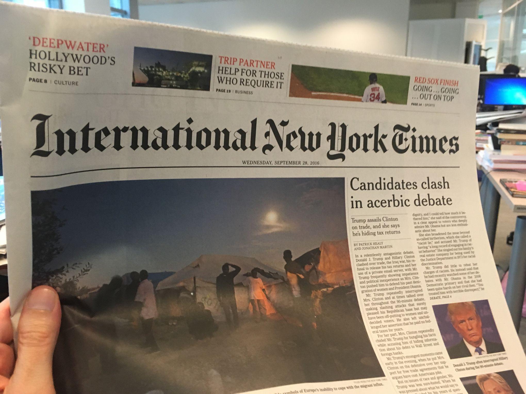 Linternational new york times quitte paris