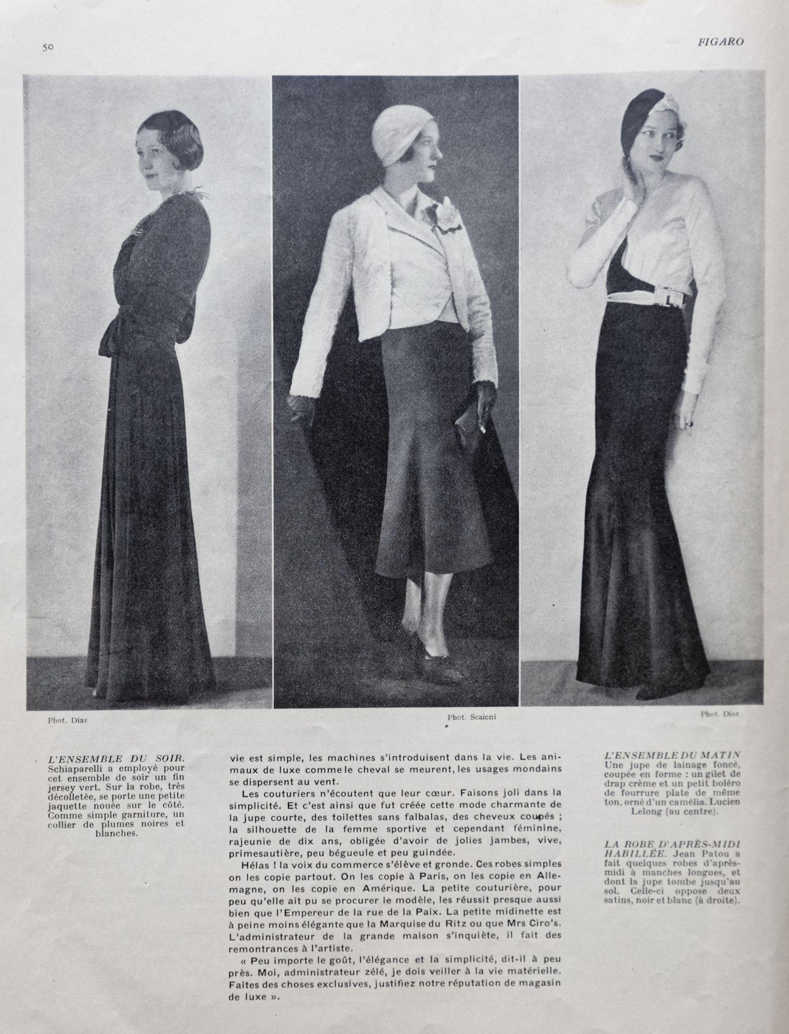 Haute couture   quand Le Figaro égratignait les couturiers en 1931 721430350b00