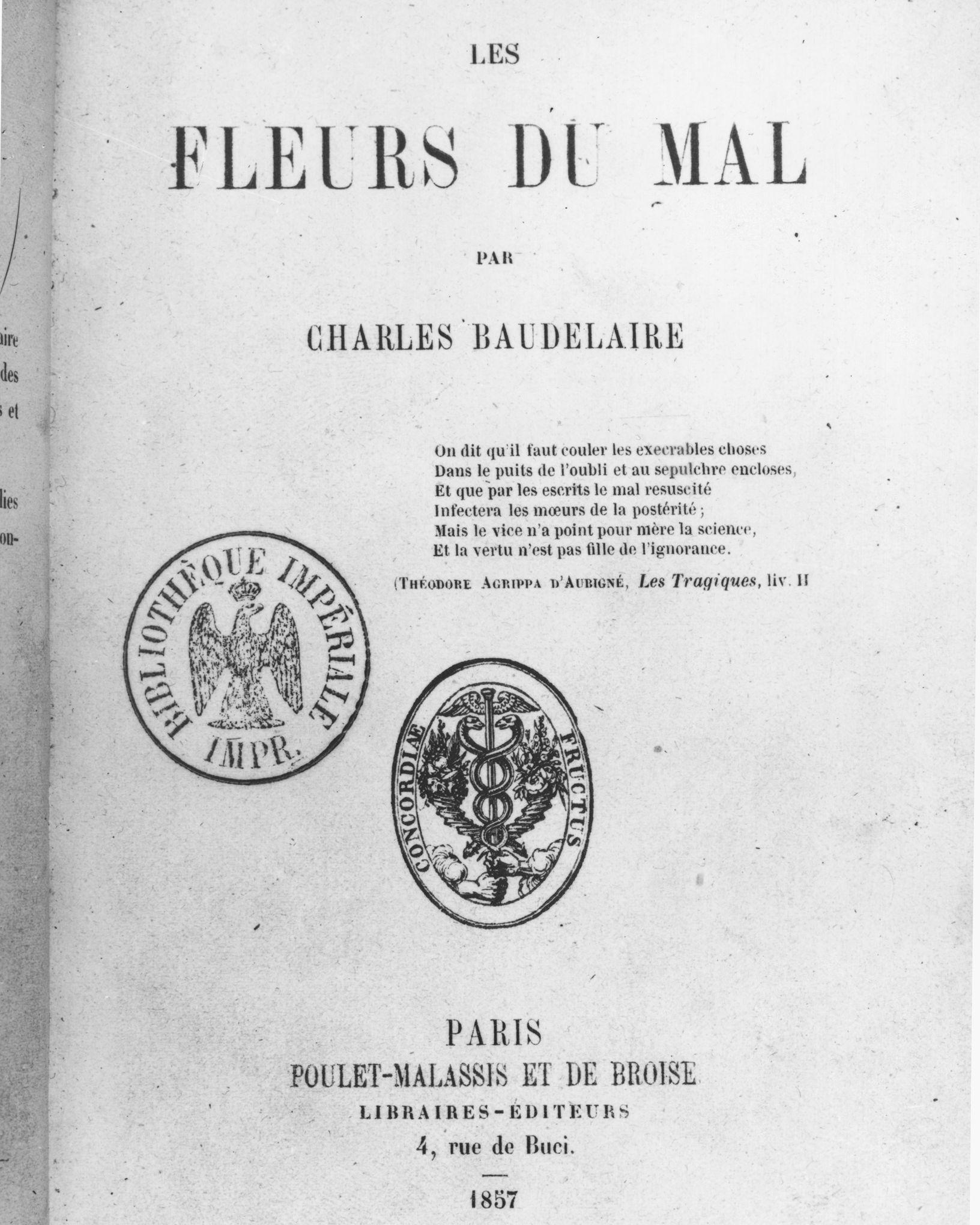 Charles Baudelaire Une Poésie Ni Pure Ni Soumise