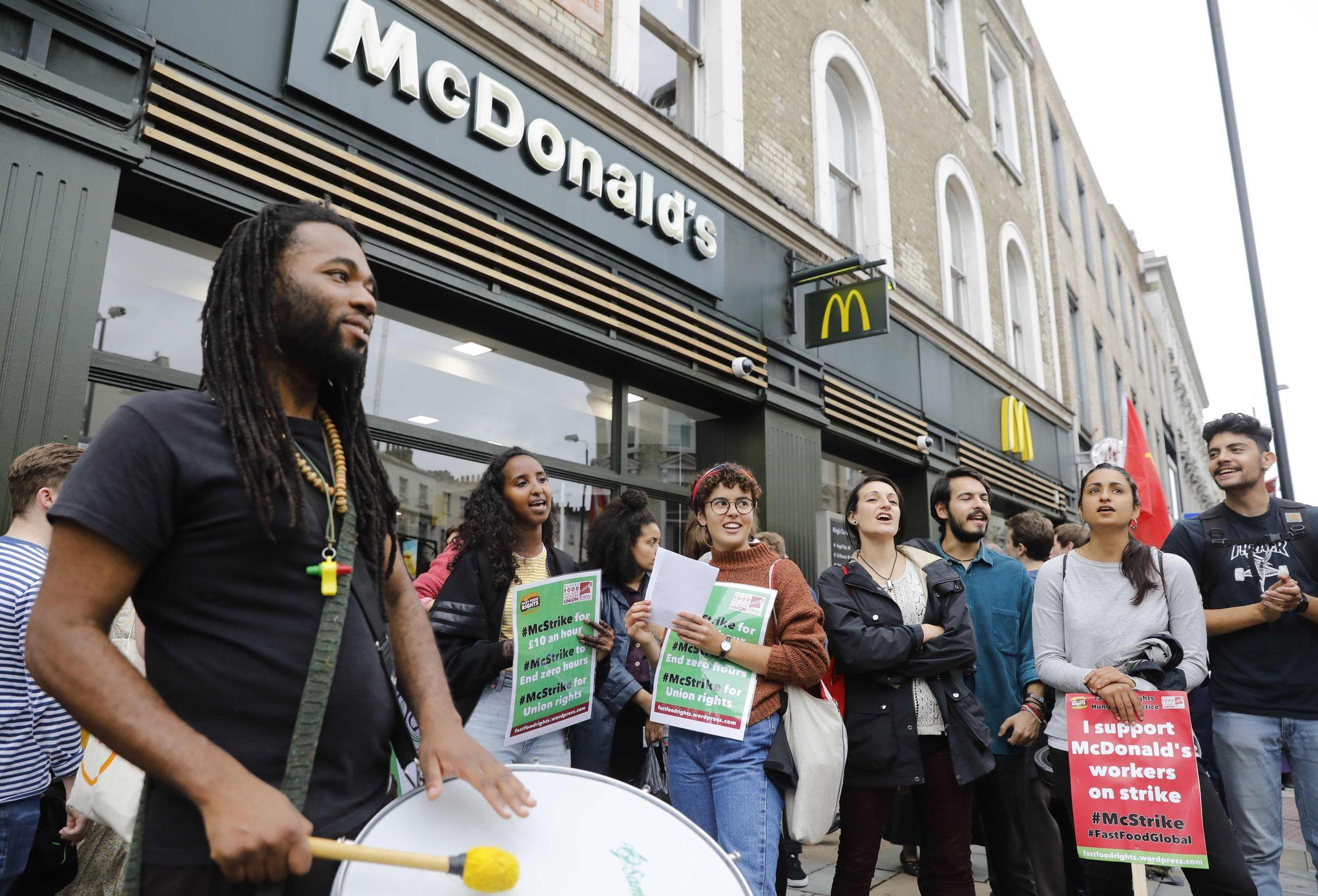 Mcdonald S Face A Une Premiere Greve Historique Au Royaume Uni