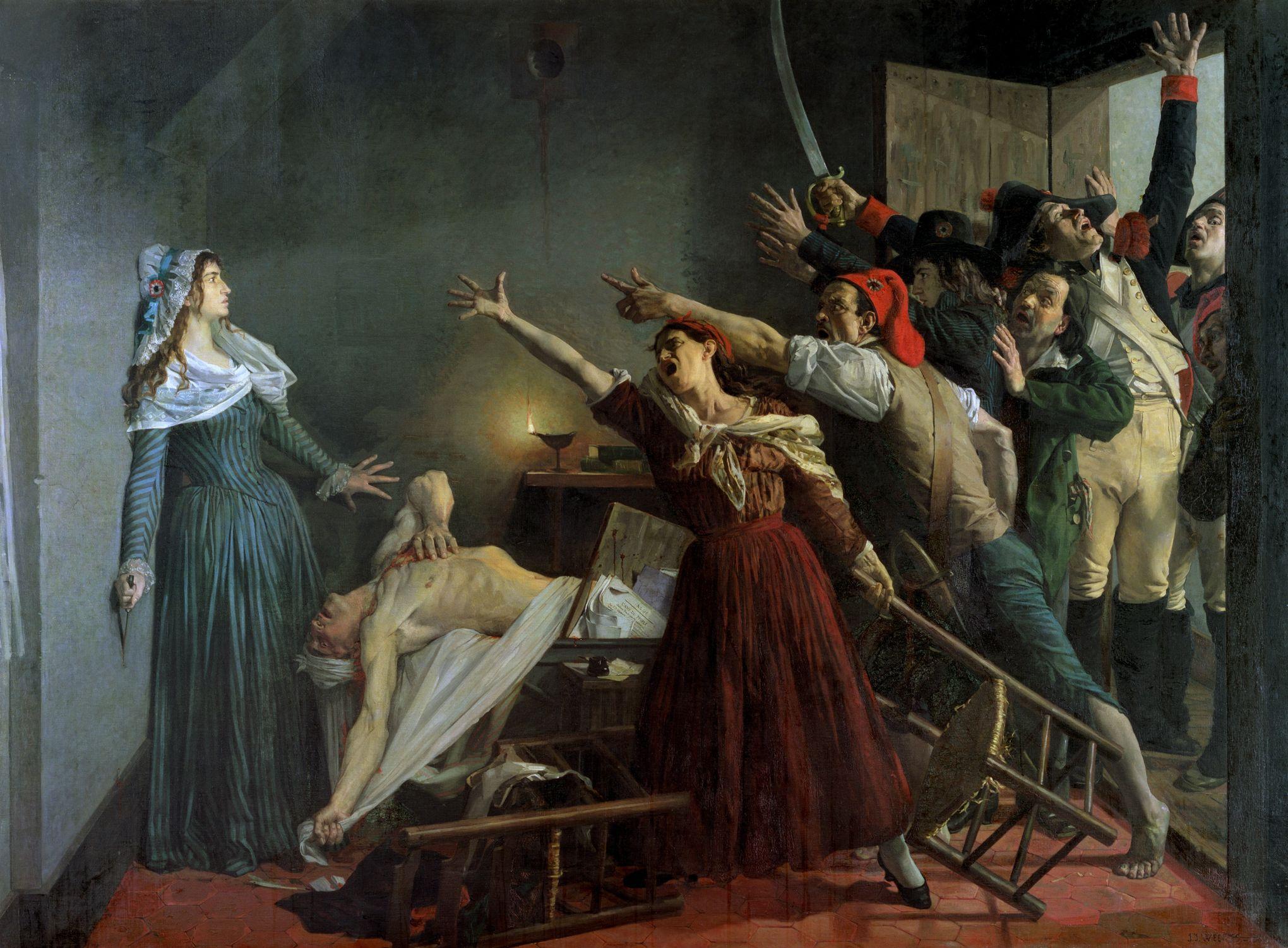 13 juillet 1793 : Charlotte Corday assassine le citoyen Marat dans ...