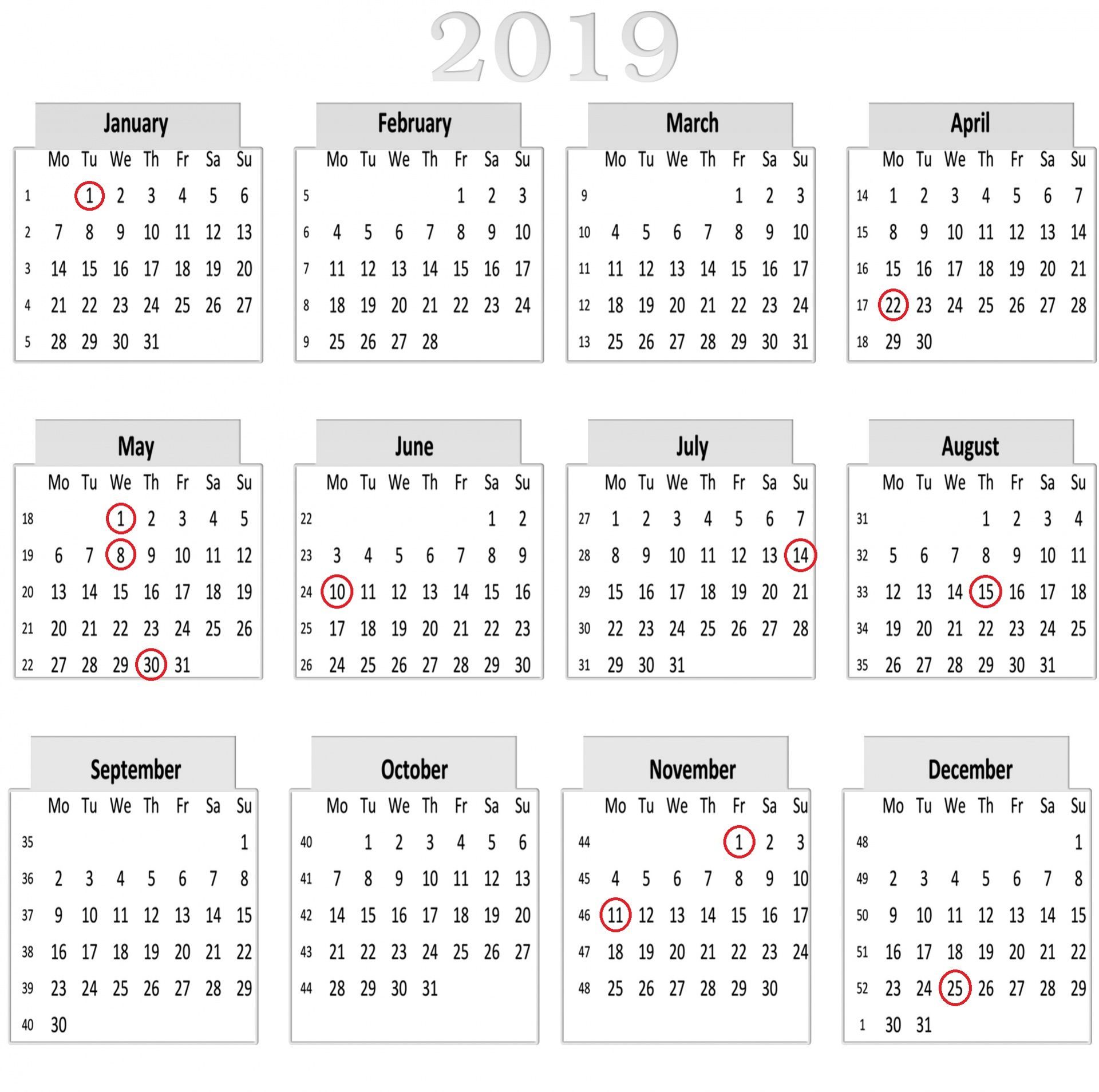 7f95ff1a665 Jours fériés de 2019   de longs week-ends en perspective