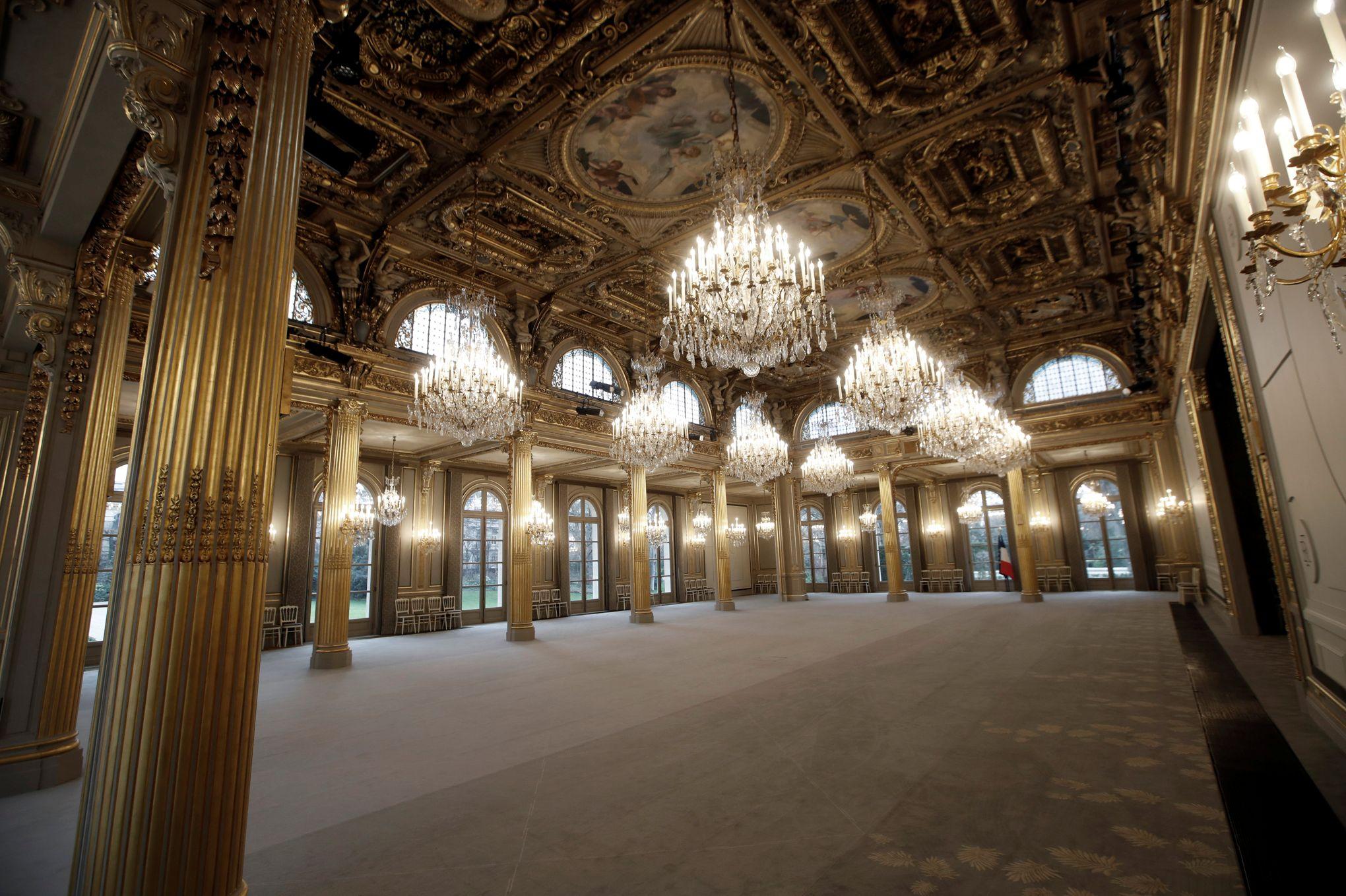 Decoration De Salle Pour Nouvel An palais de l'Élysée : la salle des fêtes rénovée est dévoilée au public