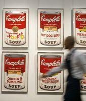 La boîte de soupe Campbell's est un des symboles de l'art de Warhol.