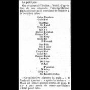 1er novembre 1915: le calligramme de la paix