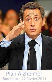 Nicolas Sarkozy s'est rendu, mardi à Bordeaux, pour faire un bilan d'étape du plan contre Alzheimer.