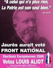L'affiche du candidat FN aux européennes Louis Aliot, en 2009.