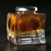 La gelée de pomme vanillée avec des marrons glacés du Comptoir des Confitures.