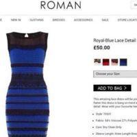 Le site du magasin en ligne commercialisant la fameuse robe.