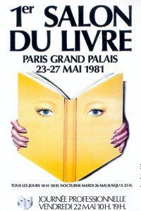 Affiche du 1er Salon du livre se tenant à Paris en 1981.