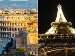 Selfies : le Colisée et la tour Eiffel en tête de classement