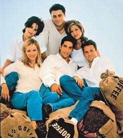 Les personnages de <i>Friends</i>.