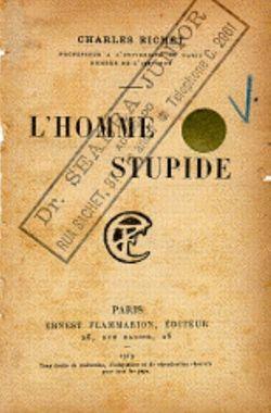 Couverture de son livre, <i>L'homme stupide,</i> paru en 1919.