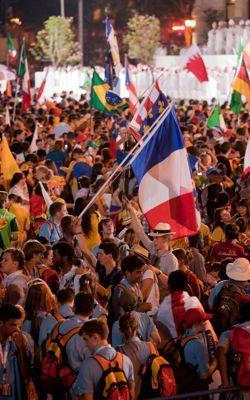 Les jeunes Français, en août2011, étaient 50000 aux JMJ de Madrid.