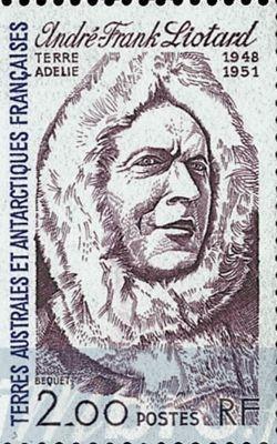Ce timbre à l'effigie d'André-Franck Liotard a été émis le 1er janvier 1985.