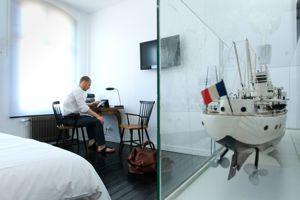 La chambre «Garçon de cabine», inspirée des voyages transatlantiques.
