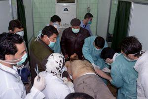 L'agence officielle syrienne SANA publie le 19 mars cette photo présentant «un homme victime d'une attaque chimique» des rebelles.