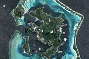 L'île de Bora-Bora vue du ciel (ASTRIUM / AFP)