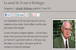 Capture d'écran du blog de Dominique Venner.