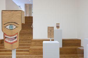 Masques cartonnés plein d'ironie de l'artiste et illustrateur Saul Steinberg.