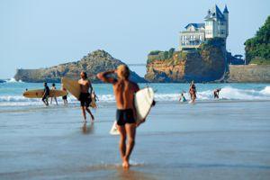 La plage de la Côte des Basques.