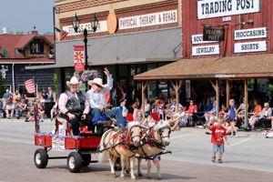 Une journée festive à Park Rapids pour l'indépendance day.