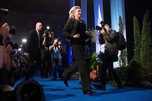 Marine Le Pen lors de l'université d'été du FN, ce week-end.