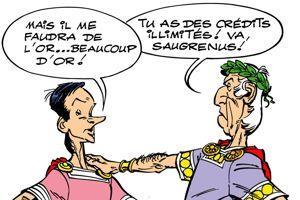 Caïus Saugrenus propose à César de corrompre les Gaulois. ©Albert-René