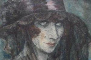 La Voilée, aquarelle de Otto Griebel, 1926. ©Melder.