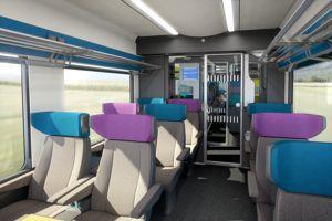 Les «Coradia Liner» seront plus confortables, plus silencieux et dotés de prises électriques. Alstom Transport/Design & Styling