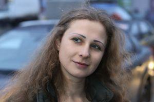 Maria Alekhina, peu après sa libération.
