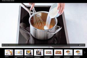 Une recette en vidéo (plein écran)