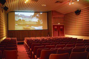 À l'Île-Tudy (Finistère), le Café du Port possède un cinéma dans son jus des années 1950 qui fait salle comble chaque week-end.