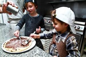 La pizzeria di Rebellato propose aussi des ateliers pour les enfants.