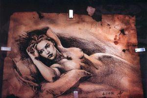 Le fameux dessin au fusain retrouvé dans les vestiges du <i>Titanic.</i>