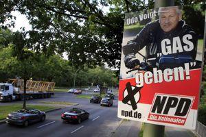 Affiche de campagne du NPD lors des élections régionales de 2011.