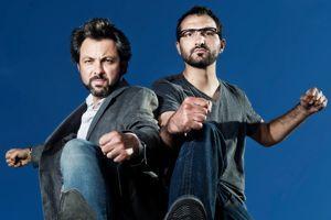 Xavier Dorison, scénariste de la BD «Les Sentinelles», et Julien Mokrani, qui devrait l'adapter au cinéma.
