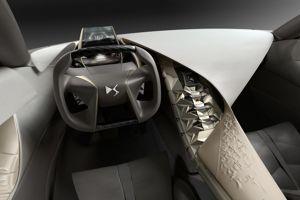 L'ambiance intérieure est très futuriste.