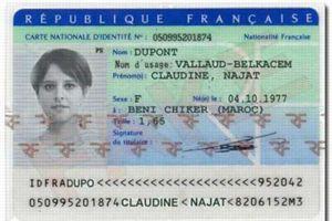La fausse carte d'identité de Najat Vallaud-Belkacem.