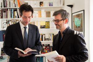 Antonin Baudry et le libraire François-Xavier Schmit.