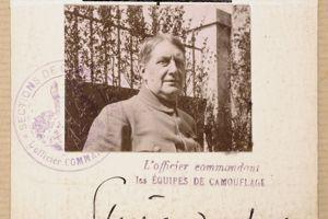 Jean-Louis Forain, Inspecteur des équipes du camouflage sur le front. 1915-1918. Collection particulière.