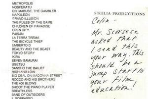 Extrait de la lettre de Martin Scorsese envoyée à Colin Levy, publiée sur son blog.